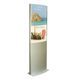 TOTEM GALBE PORTE AFFICHES