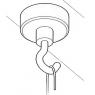 FIXATION MAGNETIQUE AVEC CROCHET - FPL615-2