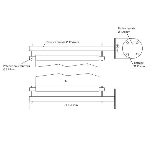 Accueil Extérieur Multi Kit DrapeauAffichage En Inox Potence kwPTOXiZu
