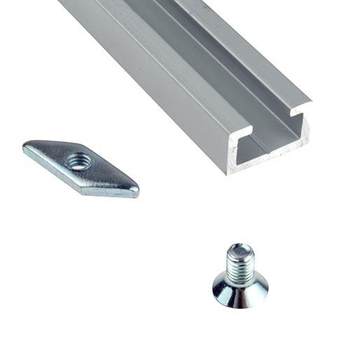 rail de fixation en aluminium fixations accueil multi. Black Bedroom Furniture Sets. Home Design Ideas